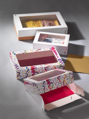 Tortenkarton mit Klarsichtfenster