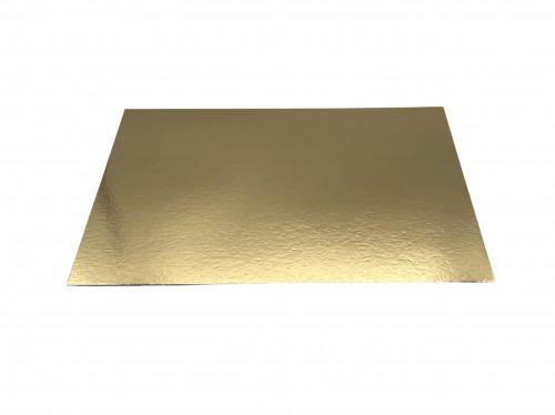 Tortenunterlage, gold, einseitig, klein, Stärke 1,5mm, 34x24,5cm, 100 Stück