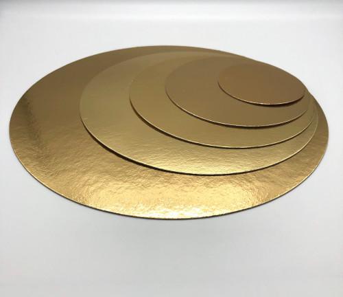 Tortenteller, Tortenunterlage, gold, 28cm, 100 Stück