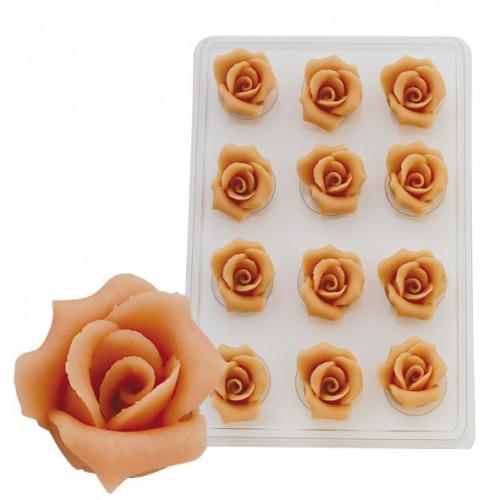 Marzipan-Rosen, groß, lachs