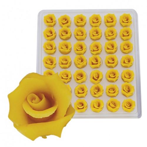 Marzipan-Rosen, klein, gelb