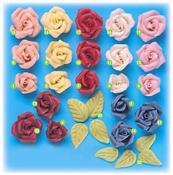 Marzipan-Rosen, mittel, rosa
