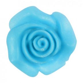 Rosen aus modellierbarer Zuckermasse, blau, 30mm, 48 Stück