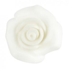 Rosen aus modellierbarer Zuckermasse, weiss, 30mm, 48 Stück