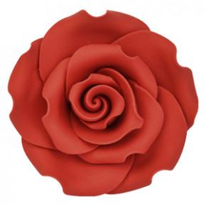 Dekor-Rosen, rot, aus lebensmitteltauglichem Material, nicht essbar, 50mm, 18 Stück