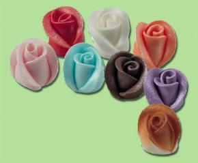 Zucker-Rosen mit Perlmutt-Effekt, lieferbar in den Farben blau,