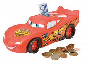 Cars Spardose mit Drehverschluss, Kunststoff