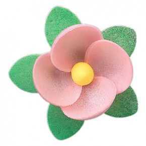 Waffel-Blumen, rosa, 45mm, 100 Stück