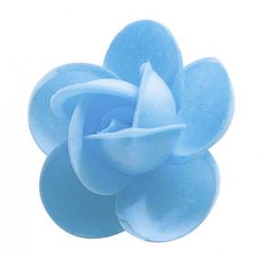 Waffel-Rose, blau, 50mm, 100 Stück