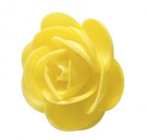 Waffel-Blumen, gelb, 45mm, 100 Stück