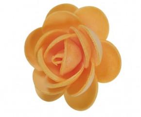 Waffel-Blumen, orange, 45mm, 100 Stück