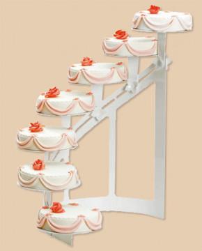 Etagen-Tortenständer Treppe, halbrund, 7-stöckig, alle Platten a