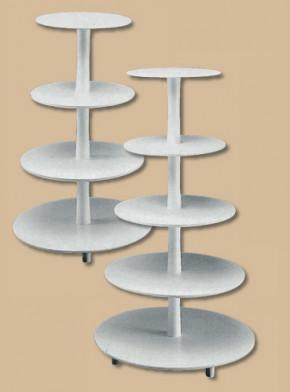 Kunstoff-Tortenständer mit 4 Etagen, Plattengröße 20