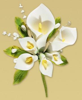 Tragant-Blumenbouquet, nicht essbar