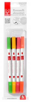 Farbstifte mit Lebensmittelfarbe, doppelte Spitze, 8-fach sortiert, 17cm, 1 Set
