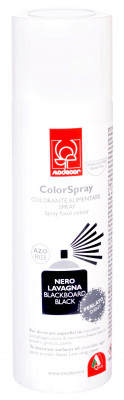 Lebensmittel-Perlsprühfarbe schwarz, 250ml, glutenfrei, auf Alkoholbasis für Oberflächen