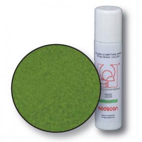 Lebensmittelfarbspray mit Samteffekt, grün