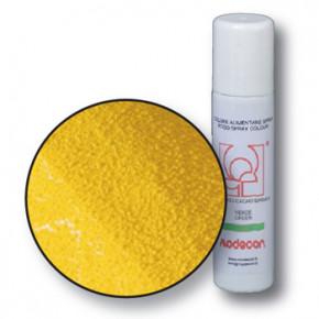 Lebensmittelfarbspray mit Samteffekt, gelb