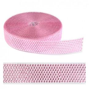 Strassband, rosa, 40mm, 10 Meter