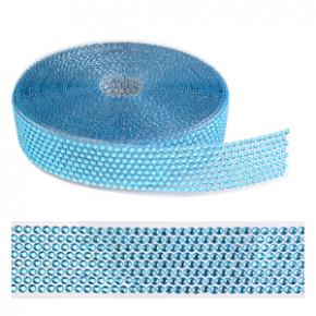 Strassband, blau, 40mm, 10 Meter
