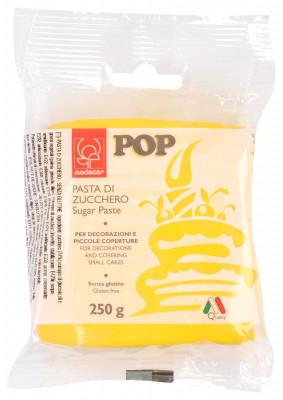 POP Fondant, gelb, modellierbare Einschlagmasse, 250g, 1 Stück