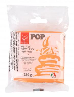 POP Fondant, orange, modellierbare Einschlagmasse, 250g, 1 Stück