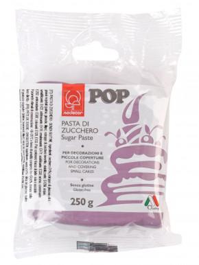POP Fondant, lila, modellierbare Einschlagmasse, 250g, 1 Stück