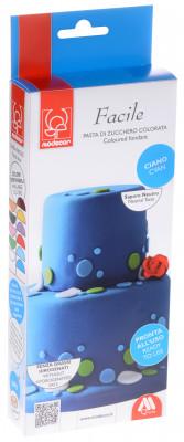 Modellierbarer Fondant, blau, zum Kunvertieren und zur Schaffung von 2D-Dekorationen
