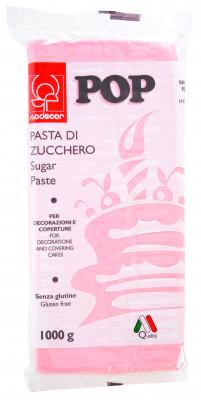 POP Fondant, rosa, modellierbare Einschlagmasse, 1kg, 1 Stück