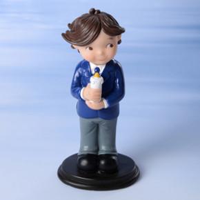Kommunion-Junge mit Kerze, Polystone, 13,5cm, 6 Stück