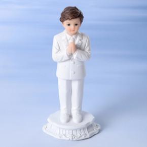 Kommunion-Junge, betend, Polystone, 12cm, 8 Stück