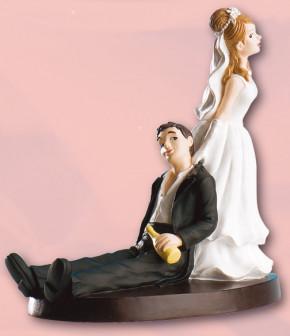 Lustiges Brautpaar, betrunken, Polystone