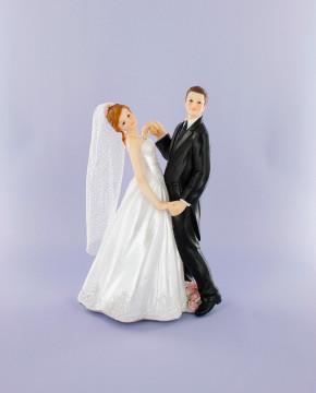 Brautpaar tanzend, Polystone, 21cm, 2 Stück