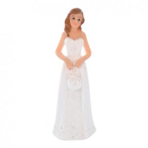 Braut mit Tasche, die Figur ist einzeln und kann daher gut kombiniert werden, Polystone, 11cm, 4 Stück