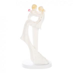 Elgantes Brautpaar mit herrlichem Brautkleid, tragend, groß, Polystone,  24cm, 2 Stück