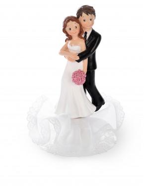 Brautpaar tanzend/umarmend, sortiert, Polystone, 20cm, 2 Stück,
