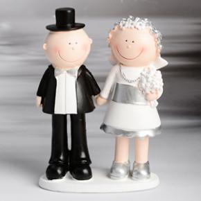 Lustiges Brautpaar Silberhochzeit