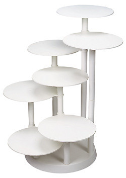 Kunststoff-Etagere mit 7 Platten