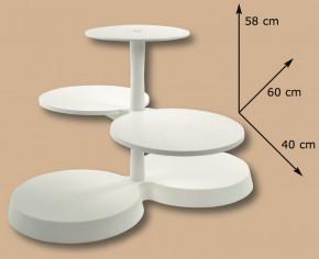 Kunstoff-Etagere mit 5 Platten
