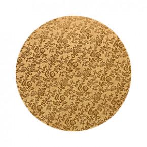 Tortenteller, Karton mit Goldfolie beschichtet, 35cm, 12mm stark, 5 Stück