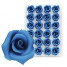 Marzipan-Rosen, mittel, blau