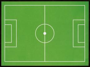 Waffel-Aufleger Fußballfeld