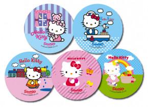 Waffel-Aufleger Hello Kitty, klein, 6-fach sortiert