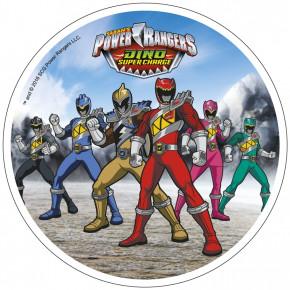 Waffel-Aufleger Power Rangers, 4-fach sortiert, 21cm, 12 Stück
