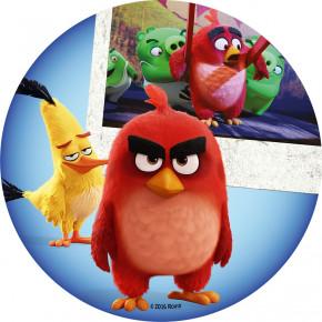 Waffel-Aufleger Angry Birds, 4-fach sortiert, 20cm, 12 Stück