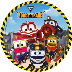 Waffel-Aufleger Robot Trains, 4-fach sortiert, 21cm, 12 Stück,