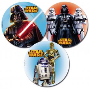 Waffel-Aufleger Star Wars, 3-fach sortiert, 20cm, 12 Stück