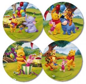 Waffel-Aufleger Winnie Pooh, 4-fach sortiert, 21cm, 12 Stück