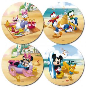 Waffel-Aufleger Mickey Mouse, 4-fach sortiert, 21cm, 12 Stück
