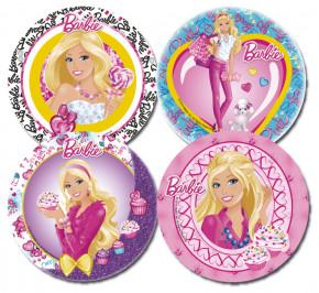 Waffel-Aufleger Barbie, 4-fach sortiert, 21cm, 12 Stück